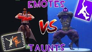TF2 Taunts Vs Fortnite Emotes... (So Similar)
