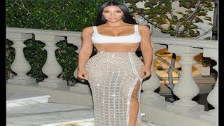 Kim Kardashian West Iced Out Dress+ Look at New Season Line