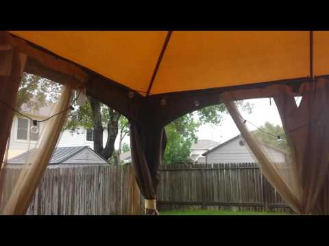 allen + roth Brown Rectangle Screened Gazebo [RAINY DAY REVIEW]
