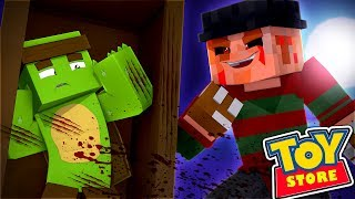 Minecraft Toy Store - THE SCARIEST NIGHT IN THE TOY STORE! w/TinyTurtle