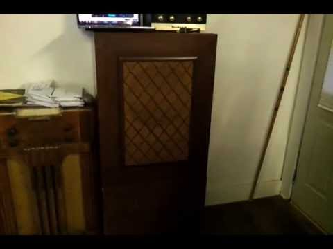 Jensen Type H Monitoring Speaker powered by Heathkit EA-2 Amplifier
