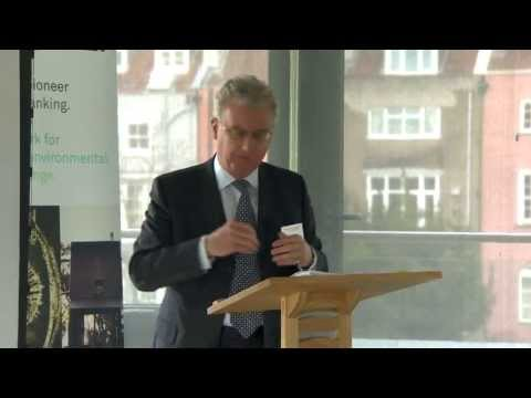 Charles Middleton, Managing Director, summarises Triodos Banks activities over the last 12 months at the UK Depository Receipt holders meeting. http://www.triodos.co.uk/invest-in-triodos-bank