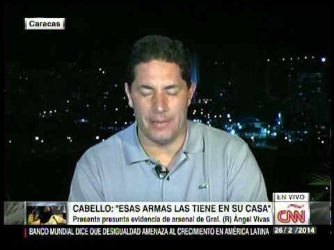 Diosdado Presenta Prueba Falsa de Armas del Gral. Ángel Vivas