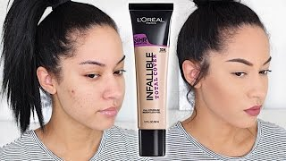 Download L'Oreal Infallible Total Cover Foundation First Impression + Demo 3Gp Mp4