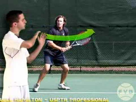 Backhand Step 1 - Pivot and Shoulder Turn