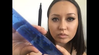 ASMR Measuring and Sketching your face