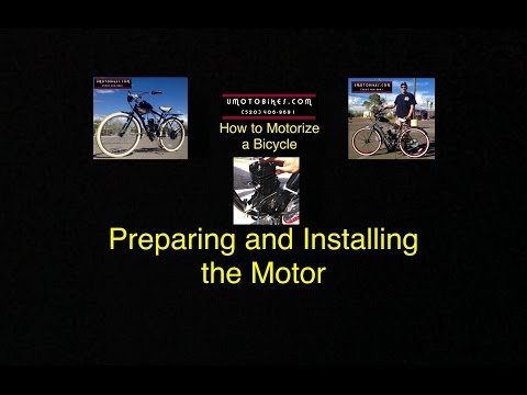 HOW TO MOTORIZE A BICYCLE-PART 6 (PREPARING AND INSTALLING THE MOTOR)