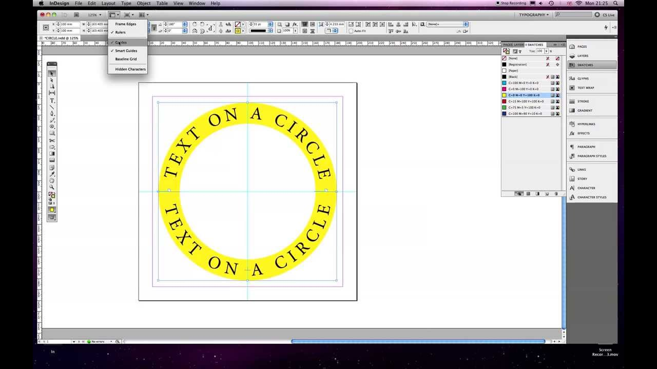 How to Write Words Around a Circle in InDesign