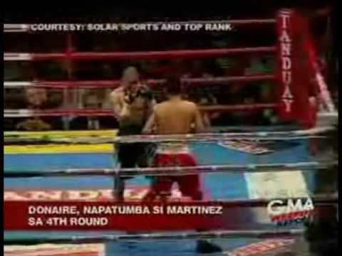 Nonito Donaire Floors Raul Martinez in the 4th Round