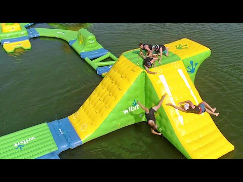 Nerf Blasters Floating Island Battle | Dude Perfect