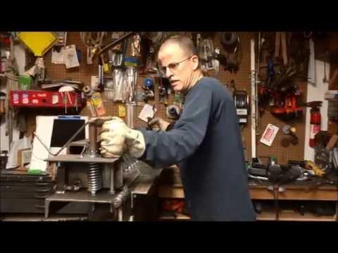 Home made sheet metal finger brake,part 2, bending 14gauge steel