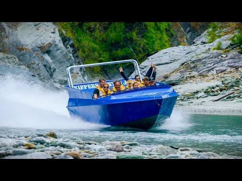 The thundering Huka Falls are an exciting location for a jet boat ride.