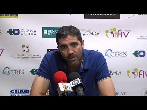 Jaime Molina en previa UCAM Murcia-Marbella (24-10-14)