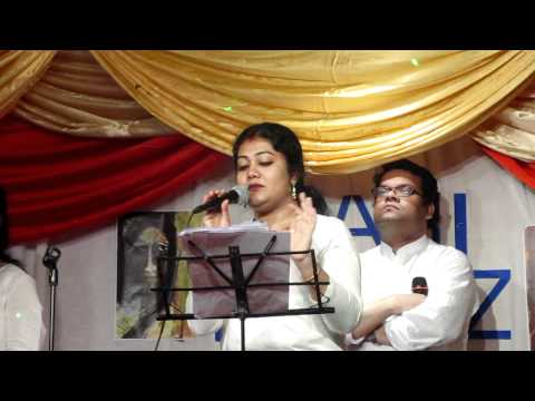 Rabindra Sangeet Rupe Tomay Bholabo Na By Saheli-stage Performance After 5years Rabirockz Sharjah video