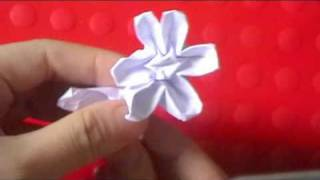 Origami Stem &amp; Leaf Flower Part 2 ($ Money Flower)