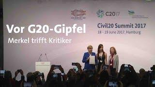 Vor Gipfeltreffen Merkel trifft G20-Kritiker