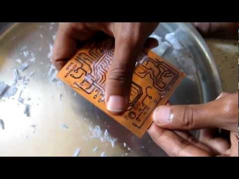 Making of PCBs at home. DIY using inexpenive materials