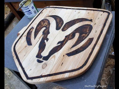 Dodge Ram Plaque Router Carving & Pallet Furniture Project