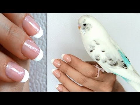 French manicure at home without tape or stickers - DIY nail tutorial step by step