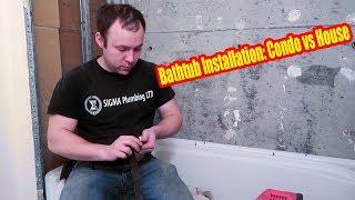 Plumbing Condo/Condominium vs House Bathtub Installation   Vlog 34