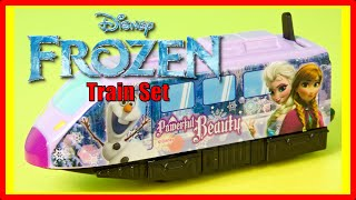 Disney Frozen Toy Train Set and Surprise Egg featuring Elsa, Anna, and Olaf
