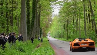 Supercar take-off, slides & drifts (Aventador, speciale, carrera gt, scuderia, ...)
