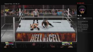 Roman raings vs rusev for the united state champion  on a hell in a cell