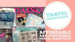 Daiso travel essentials Haul