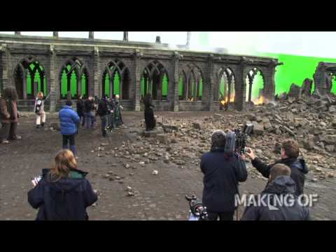 On set for the final chapter of  Harry Potter and the Deathly Hallows: Part 2
