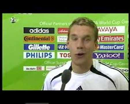 Lukas Podolski Interview (24.06.06)