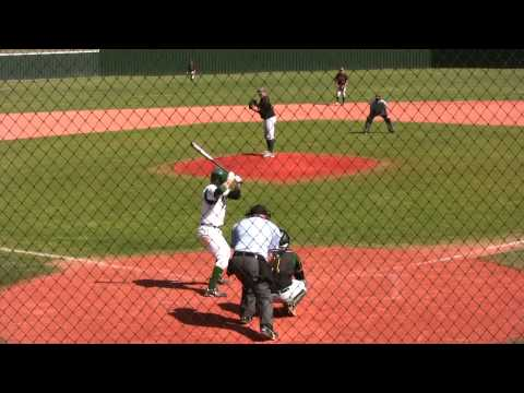 Clint Cage, Panola College, bunts against Paris Junior College