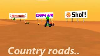 PewDiePie sings Country Roads (Super Mario Kart Remix)