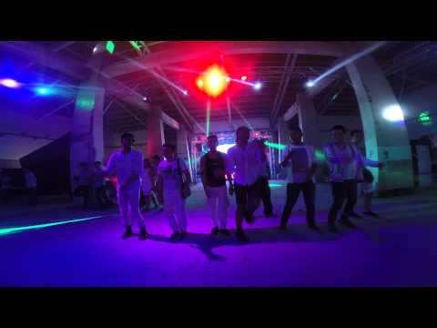 Filipino gay boys dancing to Spice Girls after the White Party Manila 2014.
