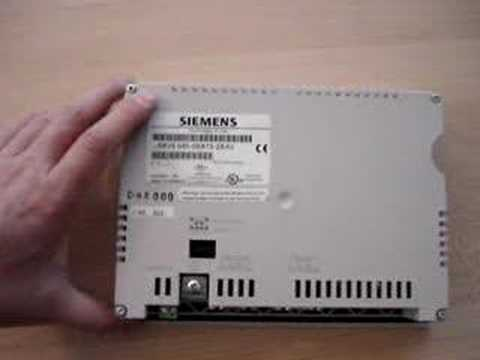 siemens simatic tp170a touch screen panel youtube. Black Bedroom Furniture Sets. Home Design Ideas