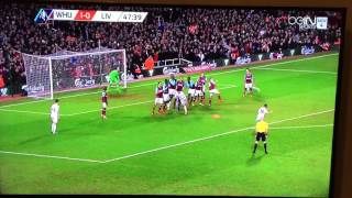 West Ham 1-1 Liverpool - Philippe Coutinho goal