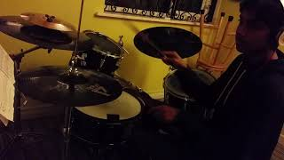 Drum along: Louie plays  Twenty one Pilots song 'Fairly Local