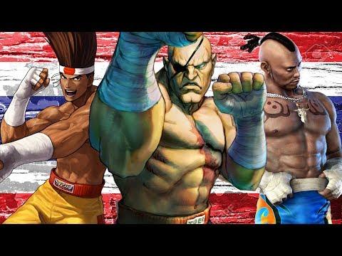 Sagat & Muay Thai fighters