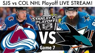 Sharks vs Avalanche NHL Playoff Game 7 LIVE STREAM! (Round 2 Stanley Cup Series SJS/COL Reaction)