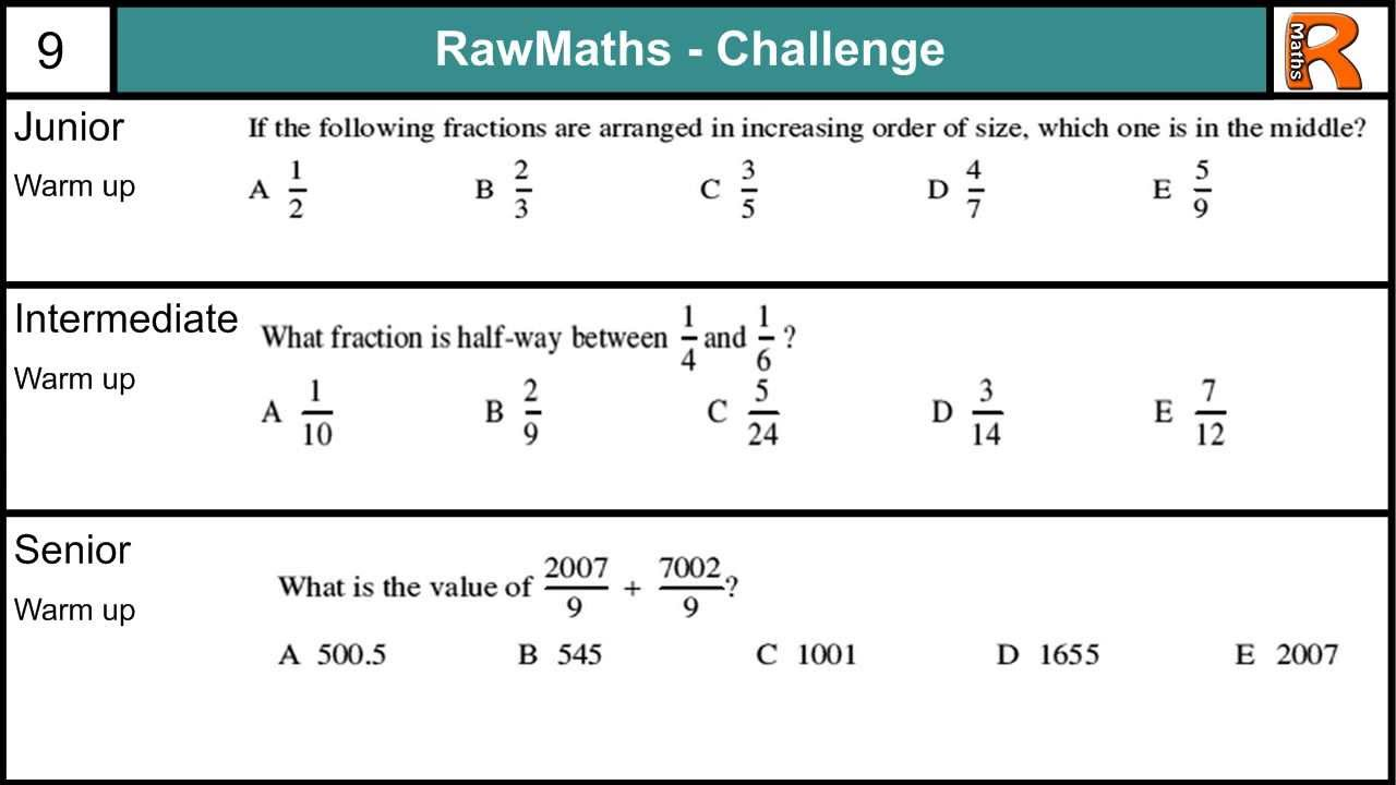 intermediate maths challenge practice papers