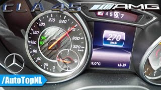 Mercedes CLA 45 AMG 0-270km/h ACCELERATION & TOP SPEED by AutoTopNL