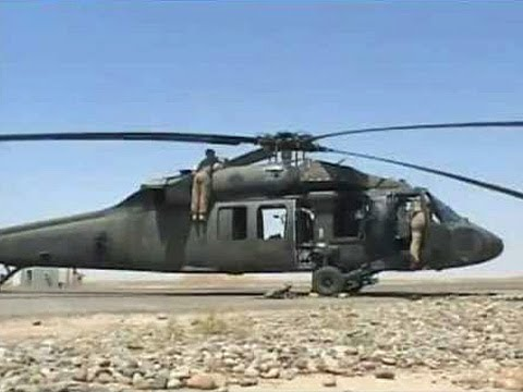Apache and Blackhawk Helicopter Operations in Tikrit, Iraq
