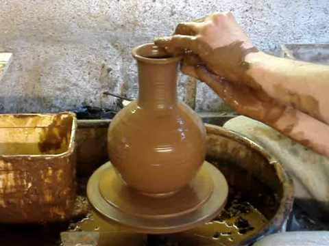 Making An Olla Plant Self Watering Clay Pot On The Potters