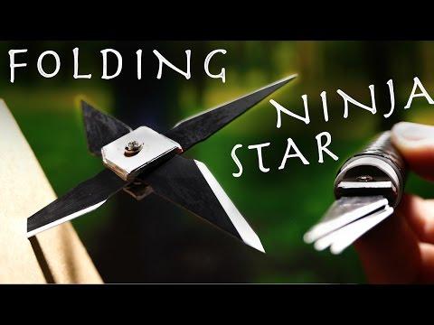 Make a $2 Retractable NINJA STAR! - Folding Spy Throwing Star!?!? (Super Easy)