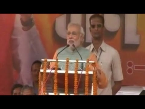 Modi plays terrorism card at Gaya rally in Bihar