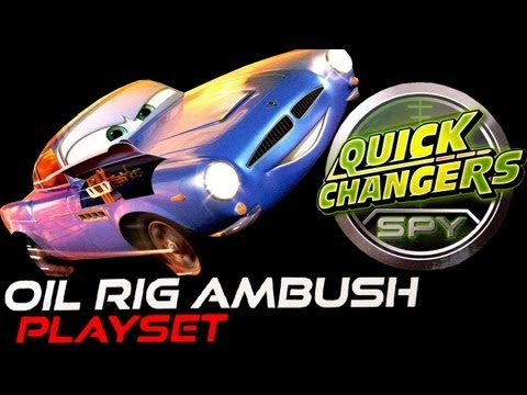 Cars 2 Oil Rig Ambush Playset Quick Changers collection