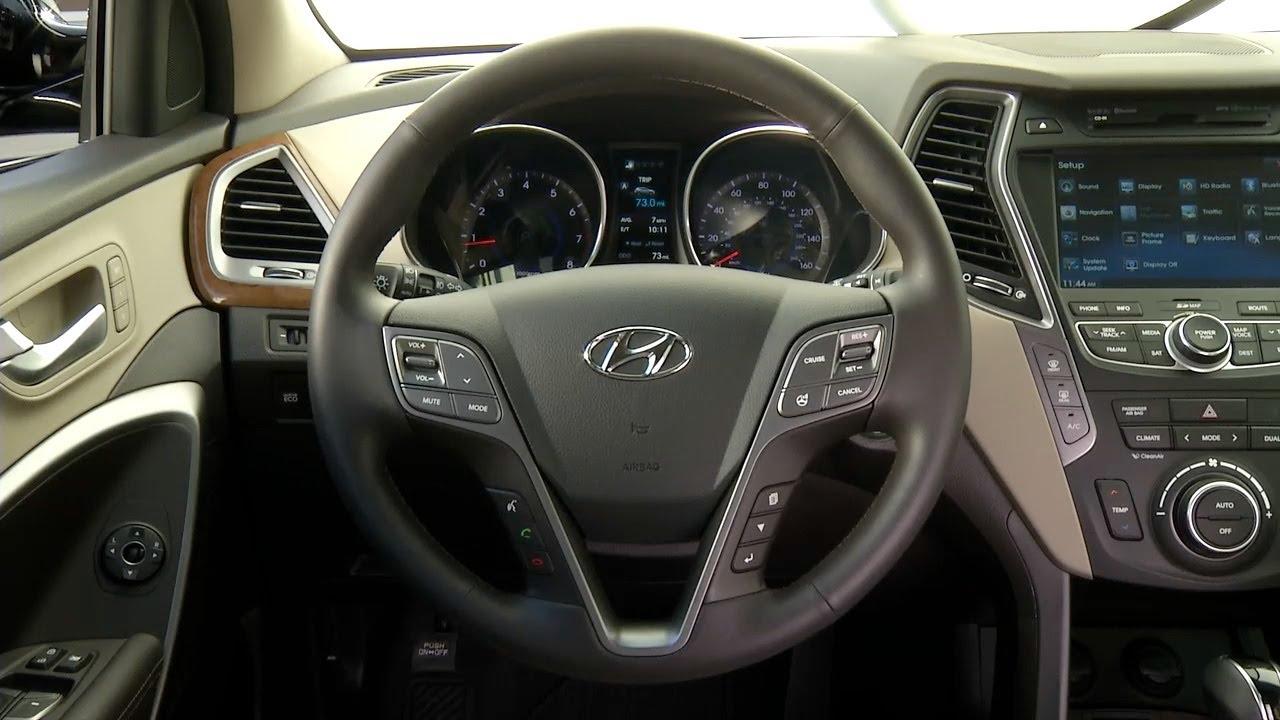 2013 Hyundai Santa Fe Interior Six Seven Passenger Youtube