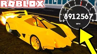 HOW TO GO SUPER FAST IN VEHICLE SIMULATOR! (Roblox Vehicle Simulator) #19