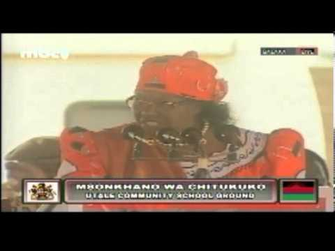 Joyce Banda at People's Party Utale Mass Rally, 6 May 2013