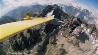 sailplane ka6e over the alps