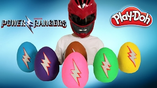 Power Rangers Movie 2017 Play-Doh Surprise Eggs Opening Fun With Ckn Toys